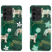 Чехол Kingxbar Spring для Galaxy S20 Ultra Green Tiger